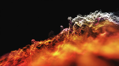 Abstract lighting, dust, particle and glare on a dark background. Archivio Fotografico - 119271138