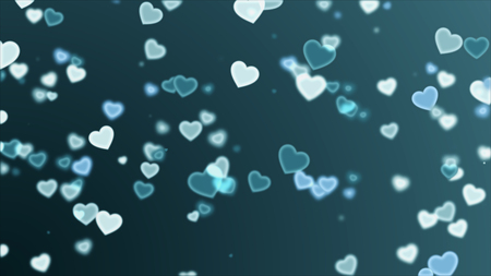 Abstract background with heart rising for valentines day holiday