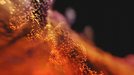 Abstract lighting, dust, particle and glare on a dark background. Archivio Fotografico - 119270999