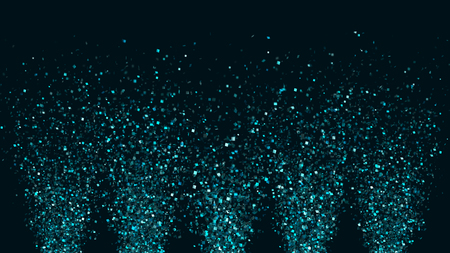 Thousands of confetti fired on air during a festival at night. Image ideal for backgrounds and overlays. Archivio Fotografico - 119270630