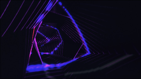 Abstract light tunnel. Retro disco lights. Neon background. Zdjęcie Seryjne