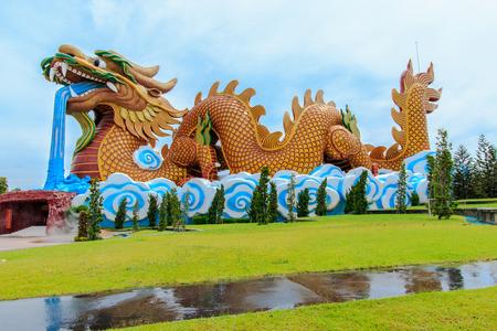 スパンブリー県、タイのドラゴンの子孫の博物館。 写真素材