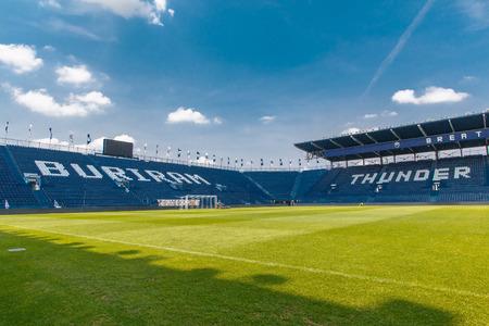 i-Mobile Stadium or Thunder Castle Stadium is a stadium built to house Buriram United Football Club, located in Amphoe Mueang Buri Ram. Buriram province The stadium has a capacity of 32,600 seats.
