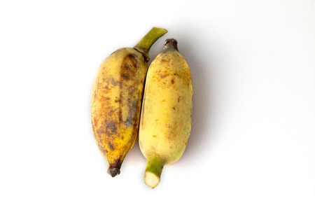 banana skin: Two bananas isolated on white background easy to die cut.