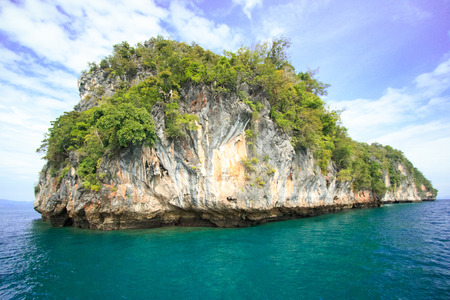 Some island near the Koh hong (Hong island) Krabi, Thailand. Surrounded by turquoise waters.