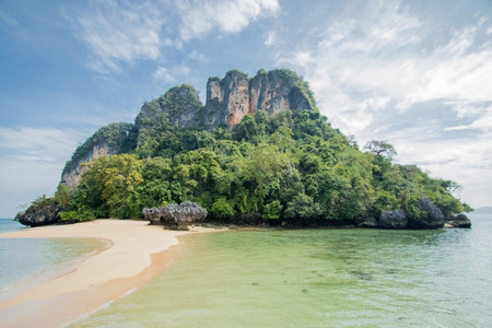 Pak Bia island near the Koh hong (Hong island) Krabi, Thailand. Surrounded by turquoise waters.