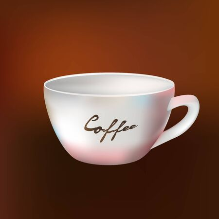 cup of coffee. vector Stock Photo
