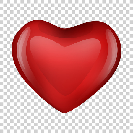 heart on transparent background. Valentine day. vector