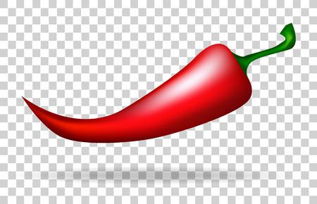 Rode peper. Eten. Vegetarisch eten. vector illustratie