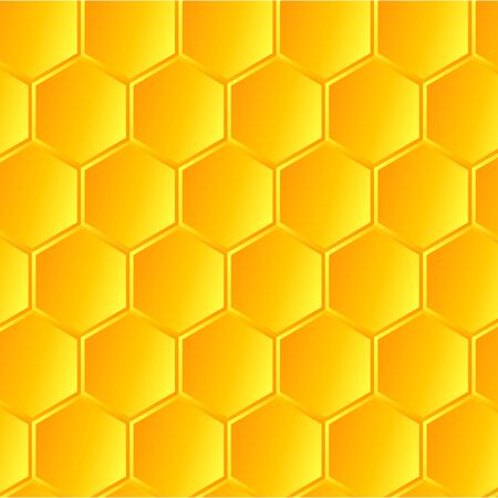 Yellow honeycomb background with honey. vector illustration