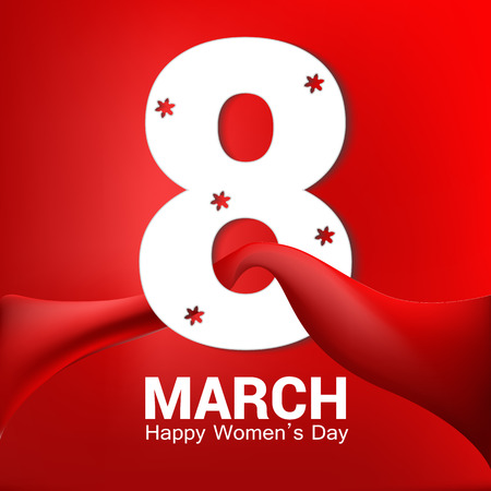 March 8. International Womens Day greeting card for your design