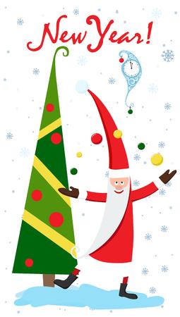 Beautiful Christmas card vector illustration. 向量圖像