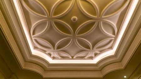 Ceiling design with lighting decorations Reklamní fotografie
