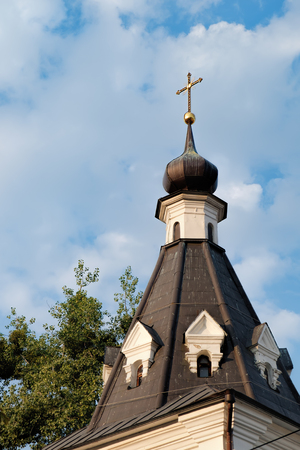 Bell tower in the Baroque style of The Church of Mykola Dobry or Nicolas Good in Podil. Historical center of Kyiv, Ukraine Reklamní fotografie