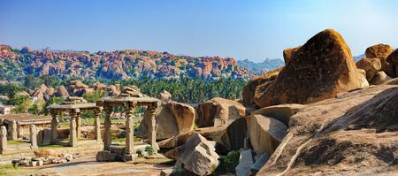 karnataka: Virupaksha Temple, located in the ruins of ancient city Vijayanagar at Hampi, India
