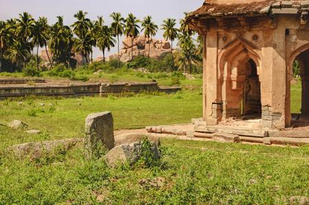 Danaiks Enclosure or Dannayakas enclosure is an important inner district of the Vijayanagar capital in Hampi, Karnataka, India.