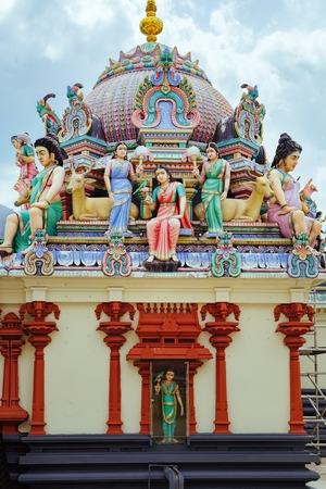 The Sri Mariamman Hindu Temple in Chinatown Stock Photo
