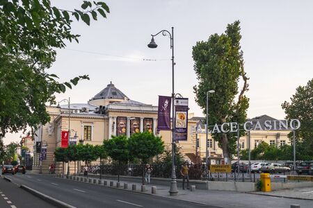 Bucharest, Romania - September 8, 2017: Palace Casino is a Grand casino for gaming tables and slot machines, live entertainment, bar and restaurants in Calea Victoriei, Bucharest, Romania Редакционное