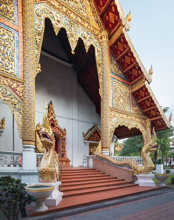 Side view of Wat Phra Singh in Chiang Mai, northern Thailand.