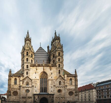 Panoramic view of Stephansdom or St. Stephen Cathedral in Vienna Austria