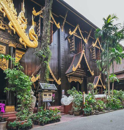 Chiang Rai, Thailand - February 9, 2018: Saeng Kaew Museum in Wat Phra Kaew, Chiang Rai, northern Thailand. Sajtókép
