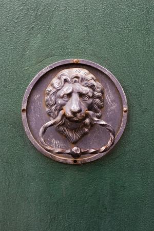 knocker: lion-shaped door knocker