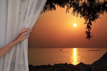 tulle: Arabic sunset Stock Photo