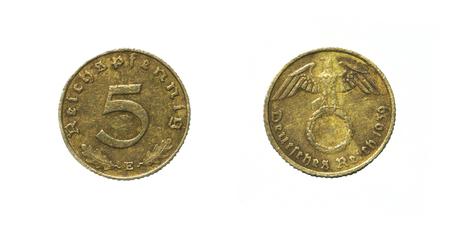 5 Pfennig Deutsches Reich 1939 Standard-Bild - 83653778