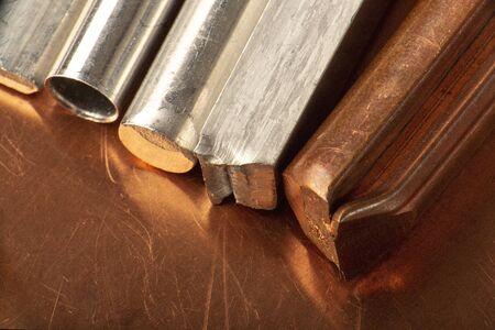 non-ferrous metal products close-up Stok Fotoğraf