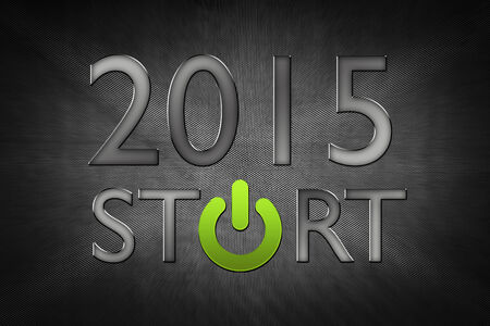 new year counter: New Year counter 2015 with power button. Stock Photo