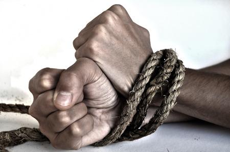 slave girl: Woman violence Stock Photo