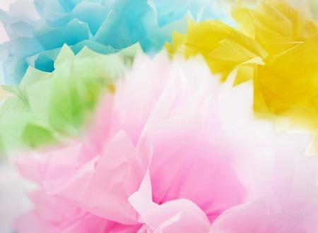fashion: Bufanda de seda del arco iris Foto de archivo