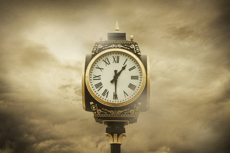 on cloud nine: Time and Clouds Stock Photo