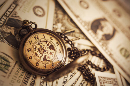 Money and Time Background Stock Photo