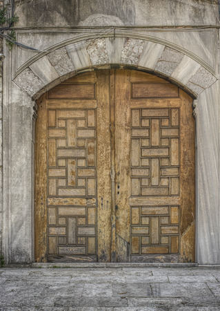 arabic architecture: Historical Old Gate Stock Photo