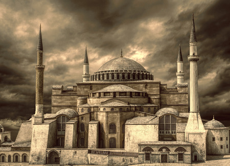 hagia sophia: Hagia Sophia in Istanbul, Turkey. Stock Photo