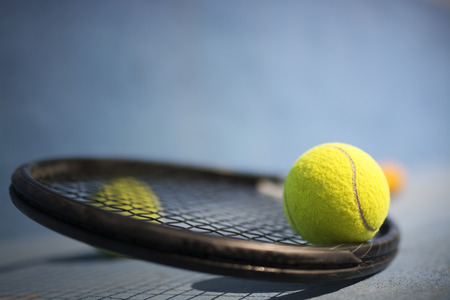 tennis net: Tennis Ball and Racket