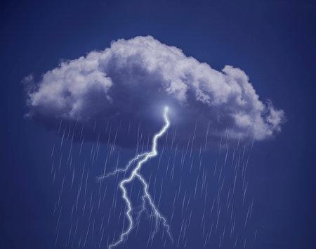 deluge: Lightning and  Rainy sky