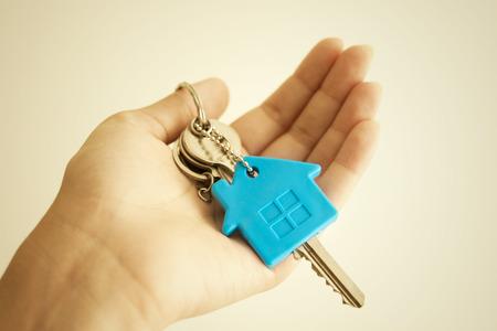 House key in hand Foto de archivo