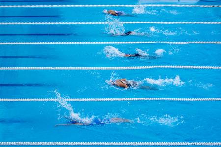 zwemwedstrijd Stockfoto