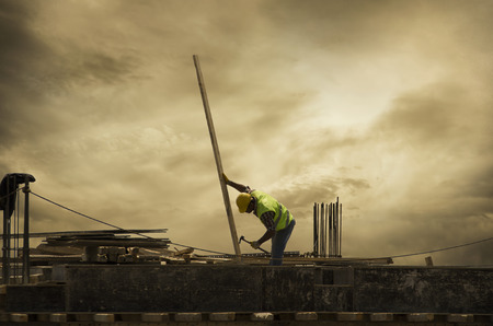 The Worker on the Building