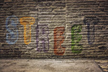 grafiti: Graffiti wall background