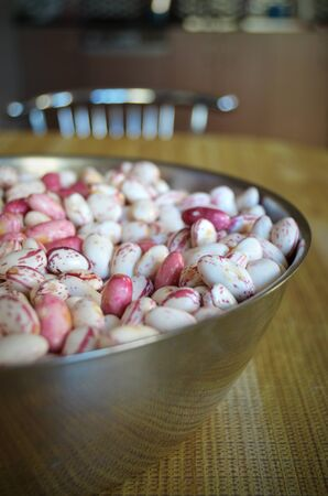 roman beans: a handful of borlotti beans