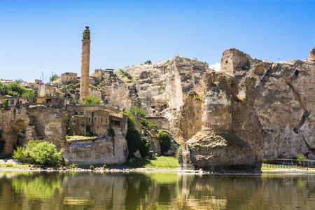 Mesopotamia landscape in Turkey,Hasankeyf Stock Photo