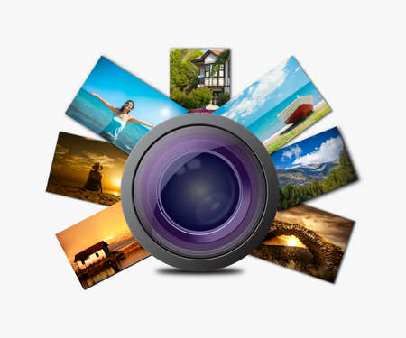 microstock: Camera photo lens and images
