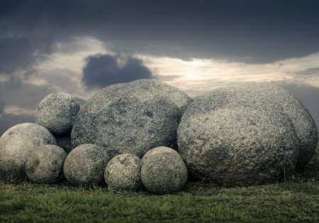 large rock: Stone Spheres