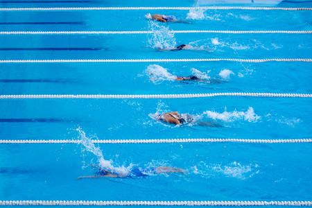 lanes: swimming  competition Stock Photo