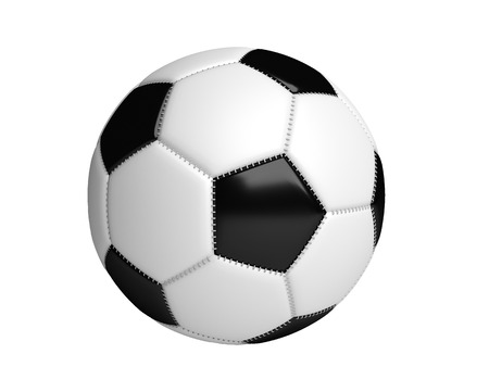 pelota de futbol: Bal�n de f�tbol aislado con el fondo blanco