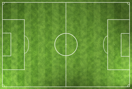 terrain foot: Green field Football Stadium