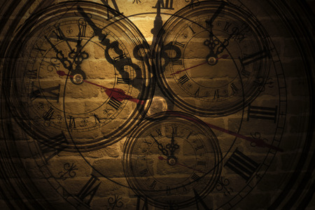 Clock on the wall Archivio Fotografico